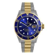 Pre owned Rolex Date Submariner Men     s Black Two tone Watch Model     Overstock