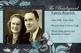 Reunion Cards Invitation Heritage Collector Storybook Family Reunion Flyers Invitations