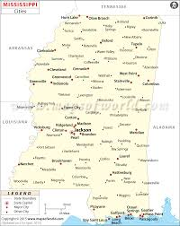 Usa States And Capitals Map by Cities In Mississippi Map Of Mississippi Cities