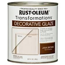 Rustoleum Kitchen Cabinet Paint Rust Oleum Transformations 1 Qt Java Brown Cabinet Decorative