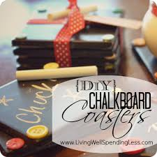 Home Made Christmas Gifts by Diy Chalkboard Coaster Set Tutorial Handmade Gift Idea Super