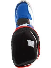 motocross boot straps oneal blue red white 2018 rider eu mx boot oneal