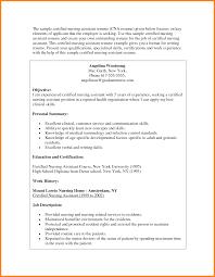 Resume Format Nursing Job by Sample Nursing Assistant Resume Free Resume Example And Writing
