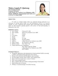 Example Of Resume No Experience by Student Resume Sample In Philippines Augustais