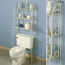 bathroom storage shelves wicker towel basket brown marble table