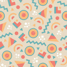 abstract background vector seamless pattern in fashion retro style