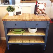 Kitchen Island With Chopping Block Top Repurposed Antique Dresser As A Kitchen Island With A Butcher