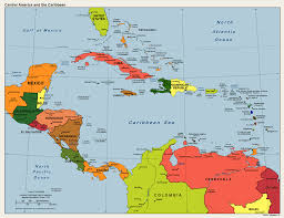Caribbean Sea On Map by Political Map Central America And Caribbean Outline Map Of Usa