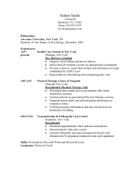 Home Health Aide Resume Template Physical Therapy Aide Resume Bullet Point Receptionist Resume