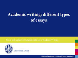 different types of essay writing