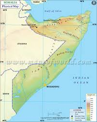 Spain Political Map by Physical Map Of Somalia