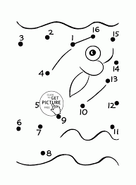 fish dot to dot coloring pages for preschoolers connect the dots