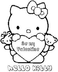 4 images kitty coloring pages free valentine