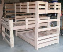triple decker bunk bed plans with slide how to build a sleeper