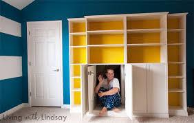 Ikea Bookshelves Built In by Hiding An Eyesore With A