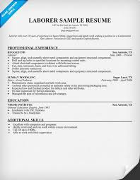 warehouse worker resume objective laborer resume sample resumecompanion com resume samples