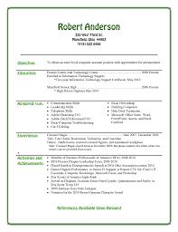 Resume Templates For Highschool Students  highschool resume