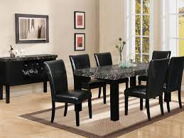 stunning black marble dining room table photos house design