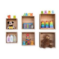 Floating Box Shelves by Wall Mount Cube Storage Kids U0027 Nursery Room Floating Box Shelves