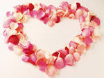HEART MADE FROM ROSE PETALS - Love Wallpaper