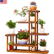 large size metal wood floor standing pot plant stand flower