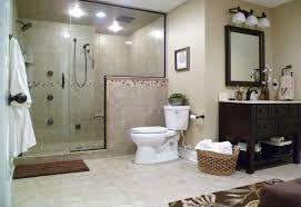 traditional bathroom with blue brown bath rug decor ideas and oval