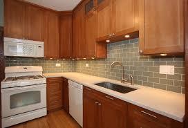Kitchen Backsplash Cherry Cabinets by Kitchen Backsplash With Oak Cabinets And White Appliances My
