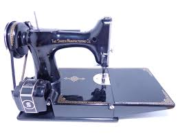 singer featherweight scroll plate sewing machine 221 1937 case and