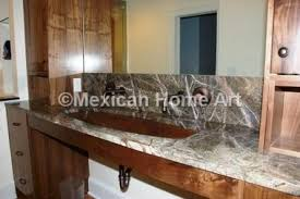 copper vanity trough sink 40 inch mexican home art