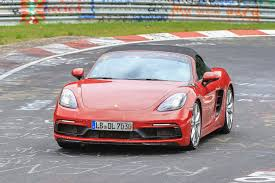 porsche 718 boxster gts spied testing at the nurburgring evo