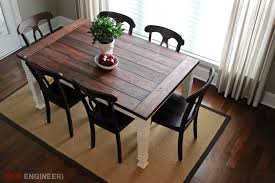 DIY Farmhouse Table Free Plans Rogue Engineer - Farmhouse kitchen tables