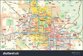 Phoenix Zoo Map by Phoenix Arizona Area Map Stock Vector 138845339 Shutterstock