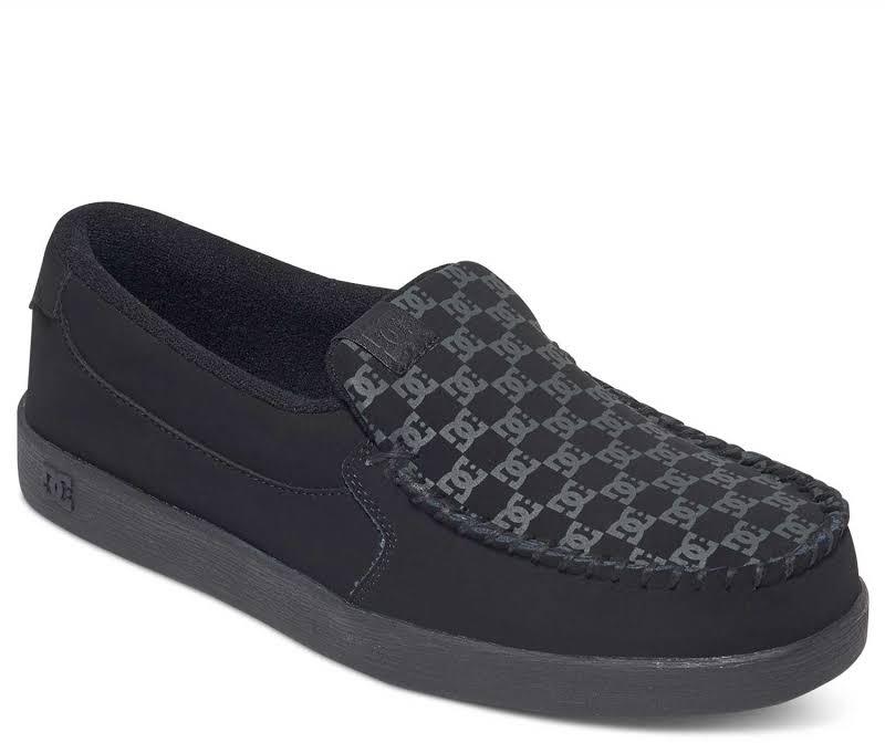 DC Villain 301361 Black Nubuck Slip On Athletic Skate Shoes