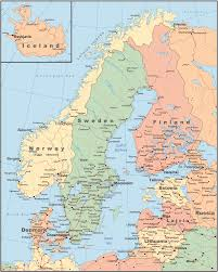 Blank Physical Map Of Russia by Map Of Scandinavia Scandinavian Tours