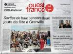 Mise en page du journal Ouest-France | Portfolio Christelle Dervily