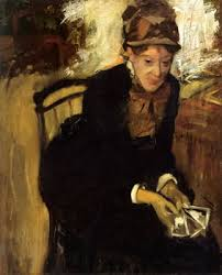 with cash in her hands mary caswith cash in hand degas' portrait of mary cassatt  could be charged with embezzlement in federal court in clearwater, largo & tampa bay florida.