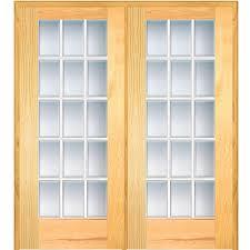 mmi door 61 5 in x 81 75 in classic clear glass full lite 62 in x 81 75 in classic clear beveled 15 lite unfinished pine