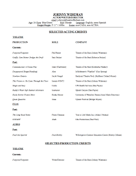 theatrical resume template special skills theatre resume free resume example and writing acting resume template free skills actors 2012 professional actor resume resume sample