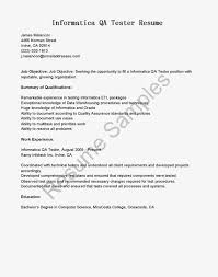 Sample Resume Of Manual Tester by Istqb Certified Tester Resume Format Resume Format