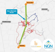 Carrier Route Maps by New Alternate Carrier Path Atlanta To Knoxville
