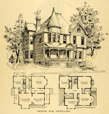 Floor Planners by 1891 Print Home Architectural Design Floor Plans Victorian