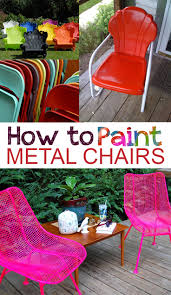 Painting Wicker Patio Furniture - how to paint metal chairs painting metal chairs painted metal