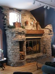 natural stone fireplace designs stunning fieldstone fireplace