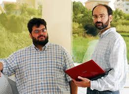 Víctor Gulías xunto ao seu socio en LambdaStream, Miguel Barreiro, nunha fotografía publicada no CiberPaís - Miguel_Barreiro_Victor_Gulias-93fac