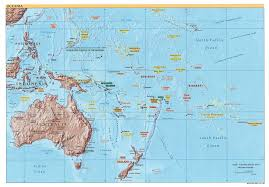 Thousand Islands Map Australia And New Zealand