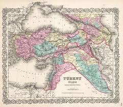 Iraq Syria Map by File 1855 Colton Map Of Turkey Iraq And Syria Geographicus