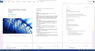 Business Continuity And Disaster Recovery Plan Template Disaster Recovery Plan Template Ms Word Excel