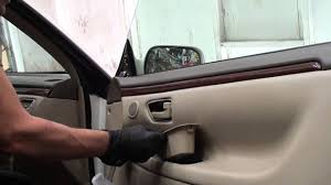 how to remove front door panels on a 2000 toyota solara youtube