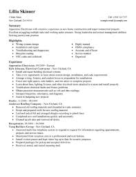 Resume Samples Construction by Journeyman Electrician Resume Template Free Resume Example And