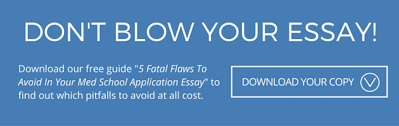 Download   Fatal Flaws in your med school application to avoid